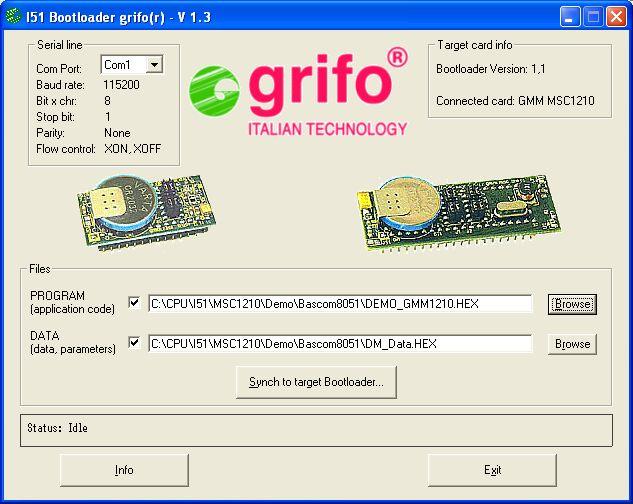 GMM MSC1210 - UK - 8051 grifo® Mini Module Burr-Brown MSC1210