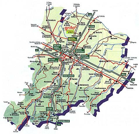 Provincia Bologna Cartina.Provinces And Districts Map Uk